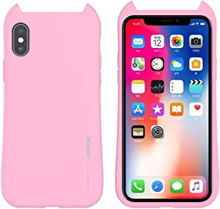 For iPhone X/XS BONNY Shockproof Solid Color Soft Protective Case New(Pink) FatW (Color : Light Blue)