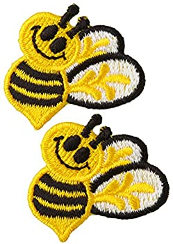 Wrights Iron-On Appliques-Bumble Bees 1 X1-1/2  2/Pkg