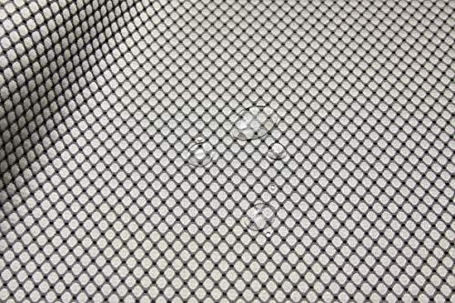 Escalano Möbelstoff Wasserfest Bezugsstoff Polsterstoff für Stuhl Eckbank Sofa Hussen Stoff (27 Farben) (16 Stahl Schwarz)