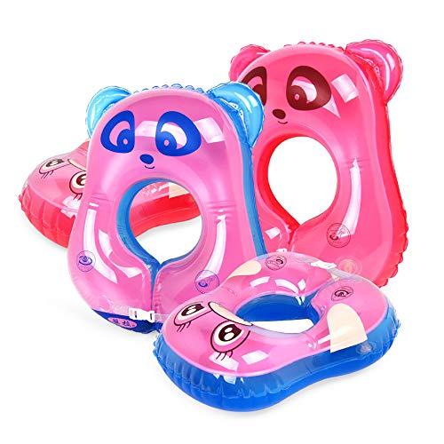 Baby-aufblasbarer Schwimmen-Schwimmen-Sitz-Schwimmen-Ring, justierbarer Schwimmenring des Kindes, passen 3 Monate-3 Jahre,pinkbear