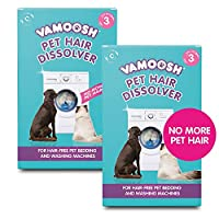 WASHING MACHINE PET HAIR REMOVER- Vamoosh's patented formula dissolves pet hair in the wash, leaving your pet's bedding and washing machine hair free and sparkling clean. Use with your pet bedding and blankets, or on its own to remove hair from your ...