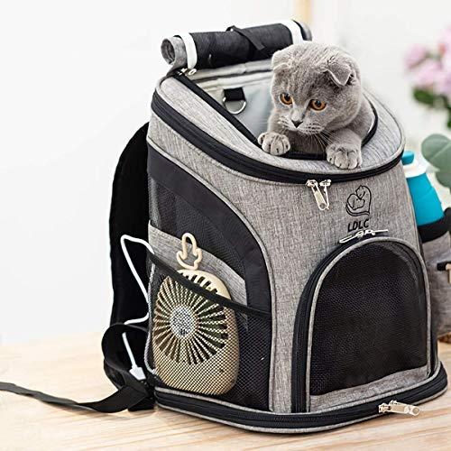 Makerfire Mochila Transpirable Mascotas, Mochila Carrier, Bolsas de Viaje para Gatos Perros Puppy Small Animals