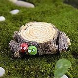 Zonster 2pcs Artificiales Seta Tocón De Árbol Adornos, Miniatura Miniatura De DIY Paisaje Inicio La Decoración del Jardín