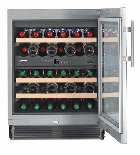 Liebherr UWTes 1672 Vinidor - wine coolers (freestanding, Silver, Stainless steel, 5 - 20 °C, SN, ST, B, Stainless steel)
