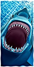 Dawhud Direct Great White Shark Teeth Beach/Shower Towel