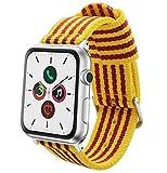 Estuyoya - Pulsera de Nylon Compatible con Apple Watch Colores Bandera de Cataluña, Ajustable Estilo Deportiva, Casual Elegante para 42mm 44mm Series 1/2/3/4 Nike+ Todos los Modelos
