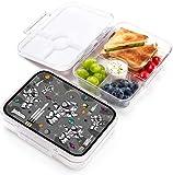 Jarlson Porta pranzo Bambini - Lunch Box con 4 scomparti - Bento Box - Senza BPA - per la scuola e l'asilo - 850ml