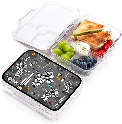 Jarlson Lunch Box Bambini - Bento Box con 4 Scomparti - Porta Pranzo- Senza BPA - per la Scuola e l'asilo - 850ml