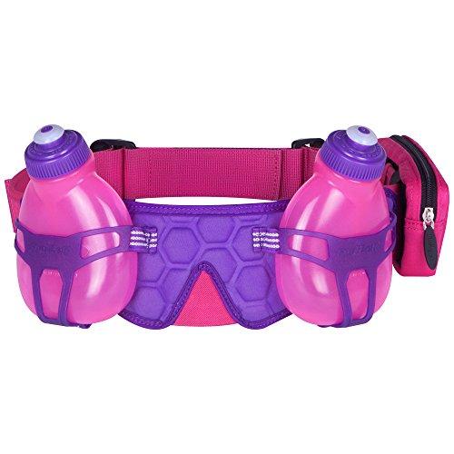 FuelBelt H2O-Helium 2 Bottle Hydration Belt, Maui Pink/Grape, One Size