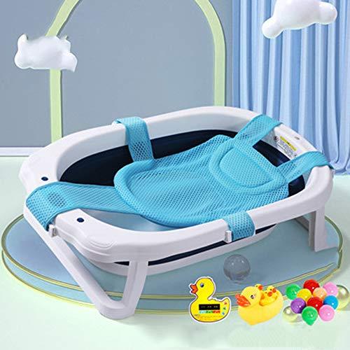 Temperatuurgevoelige babybadje, pasgeboren kunnen zitten en liggen in de badkuip, opvouwbaar en telescopische, draagbare opslag, beschikbaar voor 0-8 jaar oud,D