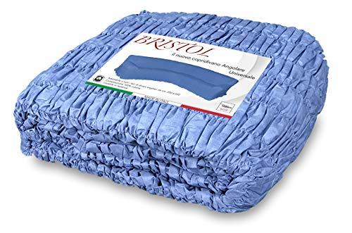 Sofá angular universal azul Unido