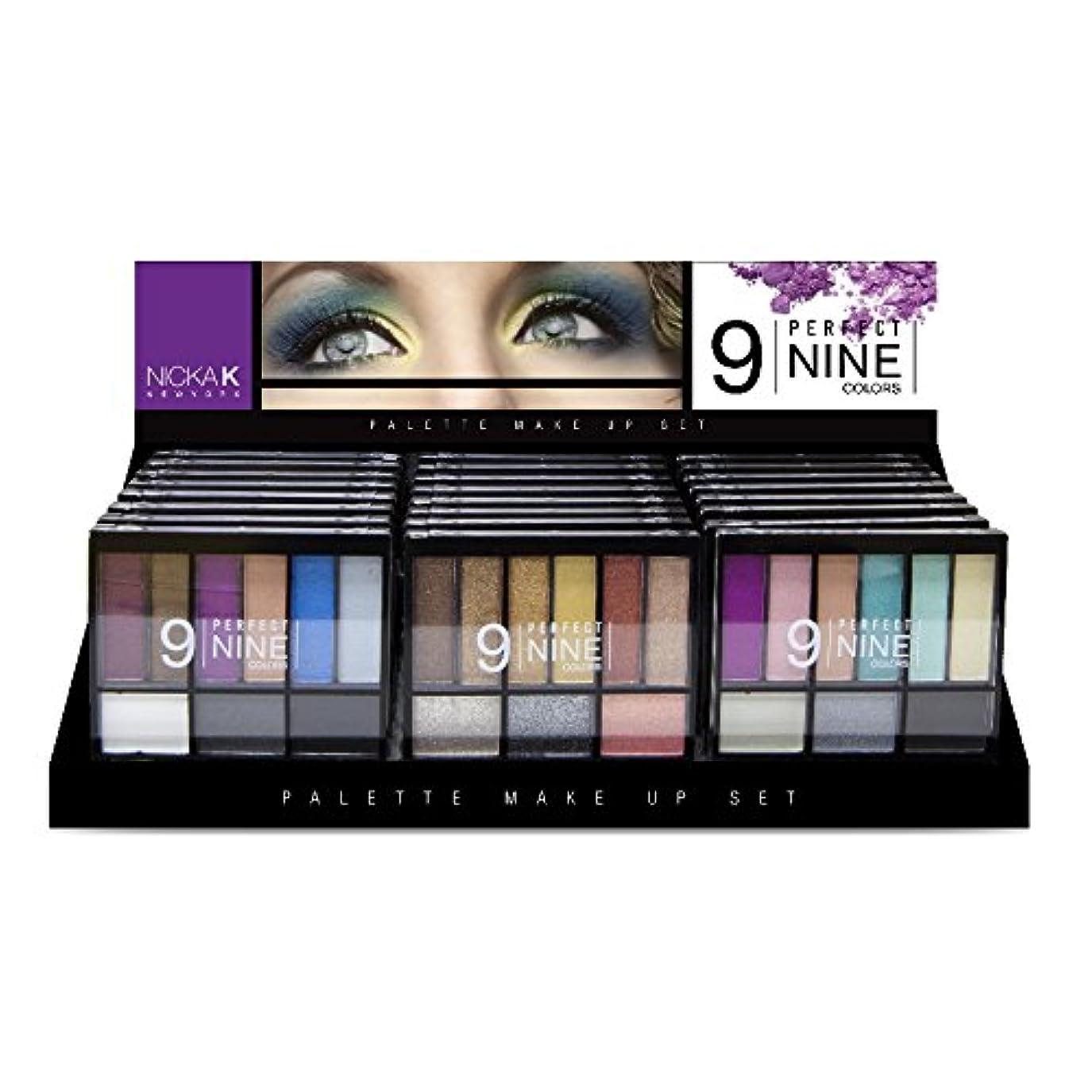 仮定するチャーター追跡NICKA K New York Eyeshadow Palette Perfect 9 Colors Display Set 24 Pieces (並行輸入品)
