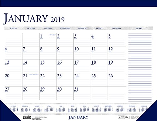 Price comparison product image House of Doolittle 2019 Monthly Desk Pad Calendar,  Classic with Notes Section,  22 x 17 Inches,  January - December (HOD164-19)