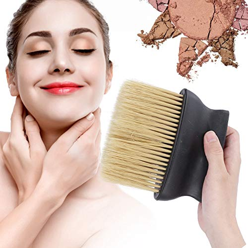 Cou Duster Visage Brosse, 1 Pièce Noir Nettoyage En Nylon Doux Balayage En Bois Barber Brosse Cheveux Cut Hairdressing Outil
