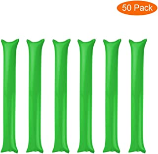 Thunder Sticks, Inflatable Stadium Noisemakers Bam Bam Cheer Sticks Blow Bar Inflatable Boom Sticks Noisemakers Stick Basketball Football Noisemakers Party Favors (Green)