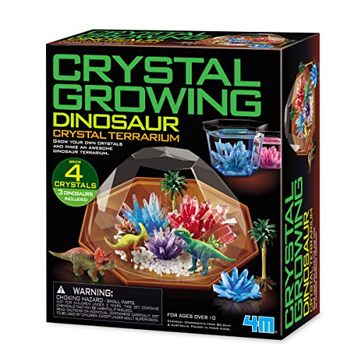 4M Crystal Growing Dinosaur Terrarium DIY STEM Toys Educational Lab Science Experiment Kit for Kids