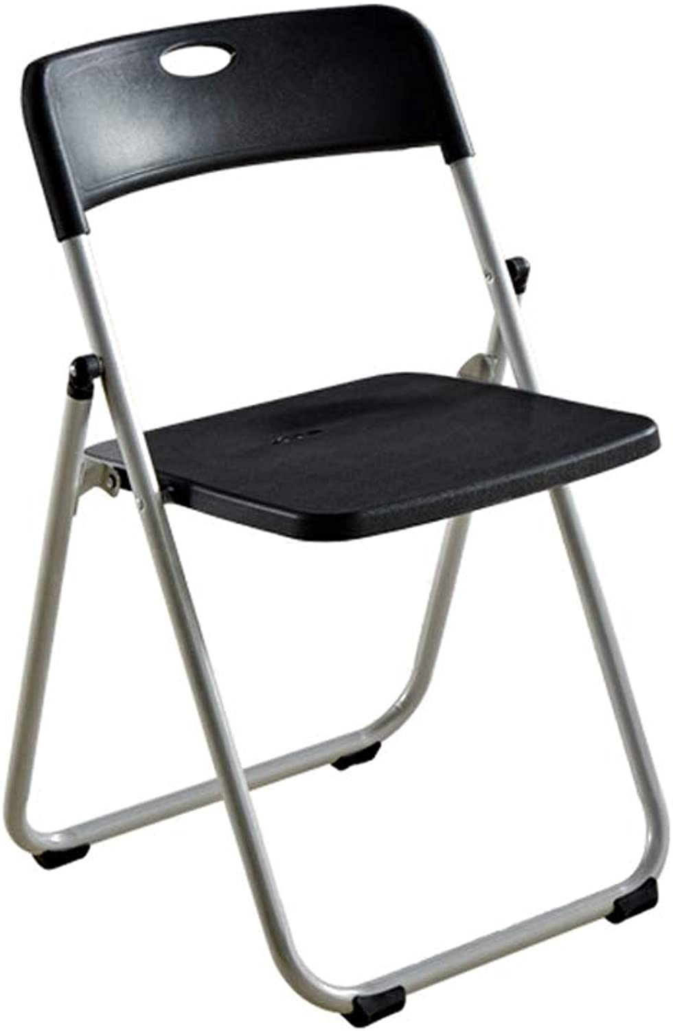 CQ Conference Folding Chair Portable Home Simple Dining Chair Chair Computer Staff Office Training Chair Leisure Seat Stool (color   Black)