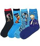 APHT Unisex BerÜHmte Gemälde Gedruckte Socken Baumwolle Muster Frauen Süß Berühmtes Gemälde Kunst Mehrfarbig Lässige Crew Socken