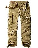 mosingle Pantalones de camuflaje para mujer de combate, pantalones de trabajo tácticos militares #2083-Khaki-29