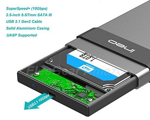 USB 3.1 Gen2 Type C Carcasa para Disco Duro Externo de 2.5 ...