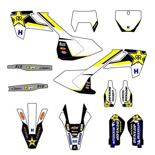 Bicicleta Motocross Pegatinas de Pegatina de calcomanías para Husqvarna Te Fe TX 2017-2019 TC FC 2016-2018 125 250 350 450 Equipo de Motocicleta Fondo Pegatinas gráficas (Color : Blank)