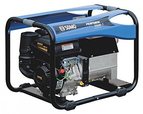 SDMO PERFORM 5500 T XL Grupo Electrógeno Trifásico Profesional, Gama Perform, Máxima Autonomía, Motor Kohler, 4500 W