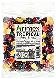 Arimex tropical mezcla de las frutas con pasas jumbo, escarchado papaya, pinas y mangos y arandanos secos, 200 g