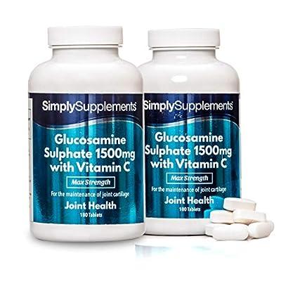 Glucosamin 1500mg mit Vitamin C - 360 Tabletten - SimplySupplements