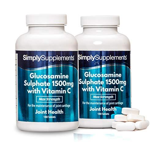 Glucosamine 1500mg et Vitamine C   360 Comprimés  Jusqu'à 1 an de bienfaits  SimplySupplements