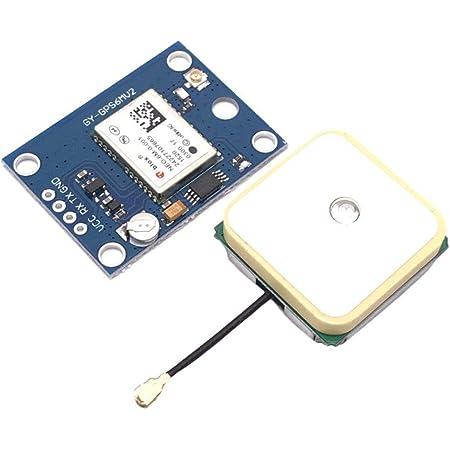 rongweiwang NEO-6M Módulo GPS EEPROM Compatible para el CMM/AeroQuad Antena Compatible para Arduino Control de Vuelo de aeronaves