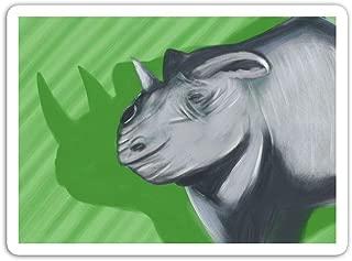 gordonstore Sticker Creature Animal Black Rhino Animals Fauna (3