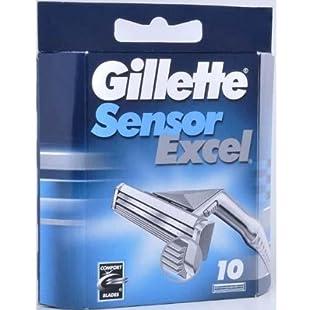 050-080-0002 Pack of 10 Gillette Sensor Excel blades Accessories:Videomesum