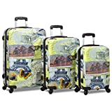 Rolite Mosaic 3-Piece Hardside Spinner Luggage Set