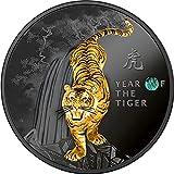 Power Coin Tiger Tigre Chinese Calendar Moneda Plata 500 Francos Cameroon 2022