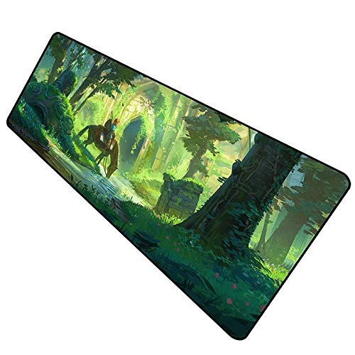WYQLZ Gaming Mouse Pad The Legend of Zelda Breath of The Wild Large Mouse Mat Game Keyboard Mat Table Mat Extended Mousepad for Computer PC Mouse Pad (Size : 8003003mm)