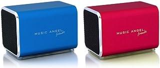 Music Angel Friendz Speaker Twin Pack Bundle for iPhone/iPad/iPod/Mp3/Laptop/Smartphone - Blue/Red