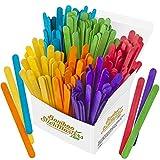 Palitos de piruleta de colores, 300 palos de madera de abedul para manualidades, 6 colores, etiquetas de plantas