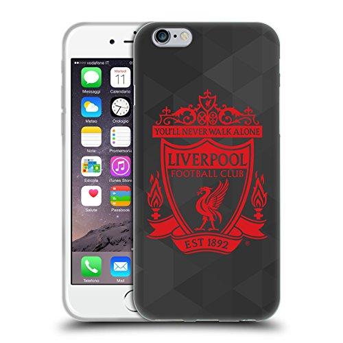 Head Case Designs Offizielle Liverpool Football Club Schwarz Geometrisch 2 Crest 1 Soft Gel Huelle kompatibel mit Apple iPhone 6 / iPhone 6s