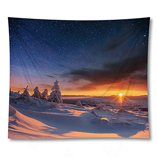 Beautiful Scenic Curtain Table Cloth Landscape Wall Hanging Tapestry Yoga Mat Living Room Decor 150x100CM