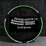 Etiqueta engomada de la motocicleta para Z650 Motor reflectante Bike Rum Decal Decoración impermeable Personalizado Remonte interior Rayas (Color : Leaf green with z)