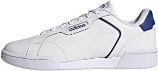 Adidas Roguera Contrast-Backstay Perforated Vamp Back-Logo Lace-Up Training Sneakers for Men - Ftwr White and Team Royal B...