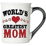 Cottage Creek Coffee Mug, World's Greatest Mom Coffee Mug, Large 18 Oz Mom Coffee Cup, Mom Mug [White]