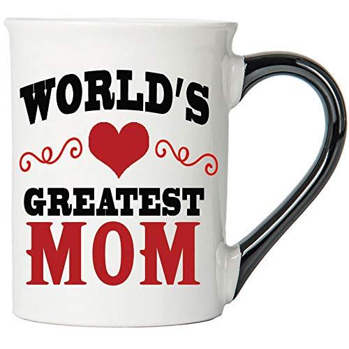 Cottage Creek Coffee Mug, World's Greatest Mom Coffee Mug, Large 18Oz Best Ever Mom Coffee Cup, Mom Mug [White]