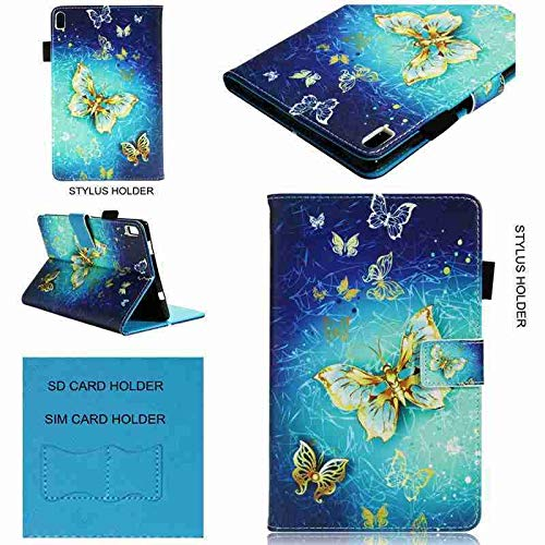 RZL PAD & TAB cases For Lenovo Tab 4 8 Plus, Painted Flip Stand PU Leather Case Cover for Lenovo Tab 4 8 Plus TB-8704X TB-8704F TB-8704N (Color : Jinhudie, Size : For Tab 4 8 Plus)