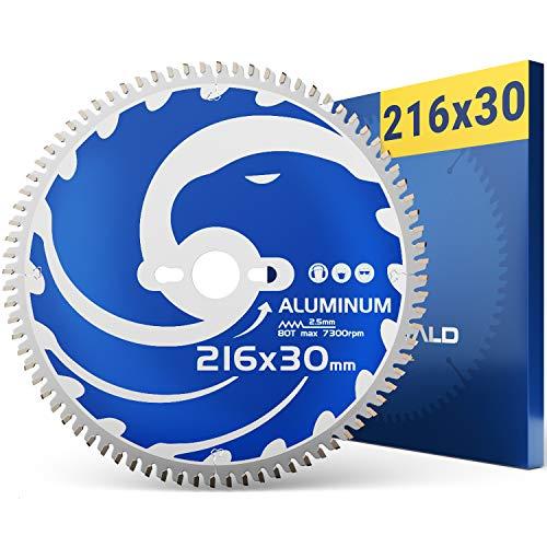 FALKENWALD Sägeblatt 216x30 Ideal für Aluminium - Kompatibel mit Bosch PCM 8s, GCM 8 SDE - Kreissägeblatt 216x30, Sägeblatt 216x30 Kappsäge, Kreissägeblatt 216, Metallsägeblatt für Kappsäge