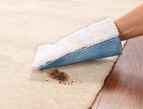 limpando Reinigungshandschuh für Textil, Teppich, Polster, Autositz und Möbel-Bezüge - Fleckweg-Handschuh mit Borsten-Seite zum Abkratzen von Schmutz