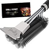 Egret Premium Quality Grill Brush and Scraper, Safe Wire Stainless Steel Barbecue Steam Cleaning Brush, Best BBQ Grill Cleaning Brush & All Gas/Charcoal Grilling Grates, Gift BBQ Accessories Scrubber