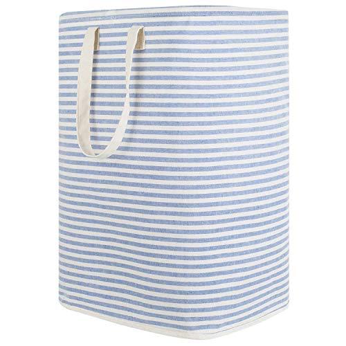 Lifewit 72L Wäschekorb Groß Wäschesammler Faltbar Wäschebox Wasserdicht Wäschesortierer Aufbewahrungsbox mit Griffe, Blau