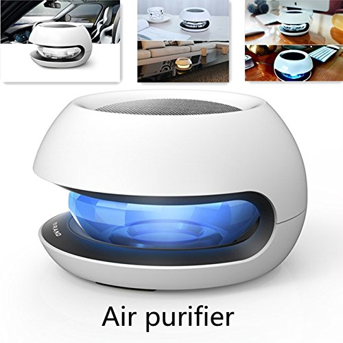 Find Bargain yunli Car Air Purifier Anion Ionizer Ionic Color Fresh Freshener Oxygen Bar