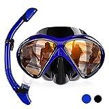 HUOFEIKE Verstellbares Trocken-Atemschlauchset für Erwachsene, beschlagfreie Taucherbrille und...